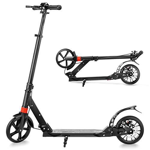 YUEBO Roller Erwachsene Tretroller klappbar Adult Scooter mit Handbremse Kickroller für Erwachsene und...