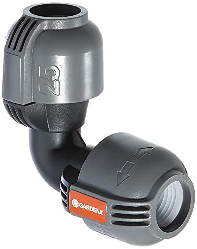 Gardena Sprinklersystem L-Stück: Rohrverbinder für Richtungsänderung des Verlegerohrs, 25 mm, Quick&Easy...