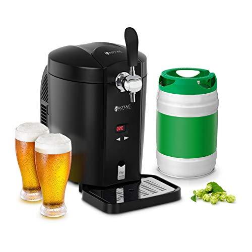 Royal Catering RCBD-5LB Bierzapfanlage Zapfanlage Bierkühler Bierspender mit Kühlung für 5 L Fässer