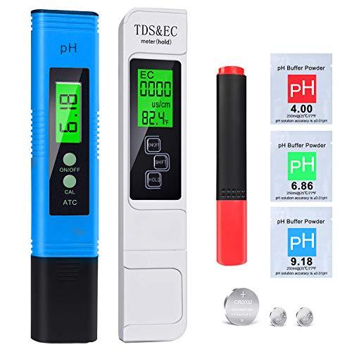 2020 pH Messgerät, pH TDS EC Temperature und BIO Tester 5 in 1 Set, Digital Wasserqualität Tester(ATC) für...