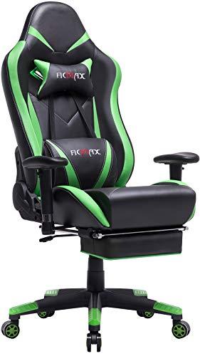 Ficmax Gaming Stuhl Ergonomischer Computer Spielstuhl Racing Stil E-Sports stuhl mit Massage Lordosenstütze,...