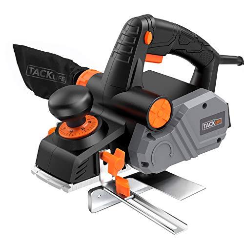 Elektrohobel, TACKLIFE 900W Elektro Hobelmaschine mit Hoch Leistung Motor, Hobelbreite: 82mm, Spantiefe: 3mm,...