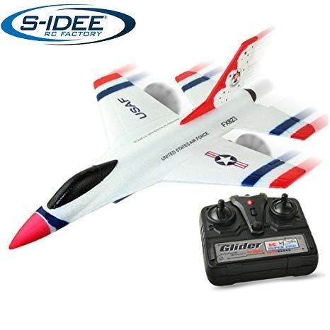 s-idee® 21005 Kampfjet FX823 Flieger Flugzeug Trainer rc ferngesteuert mit 2.4 Ghz Technik mit Lipo Akku