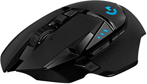 Logitech G502 LIGHTSPEED kabellose Gaming-Maus, HERO 16000 DPI Sensor, Wireless Verbindung, USB-Anschluss,...