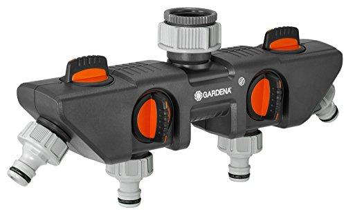 Gardena 4-Wege-Verteiler: Anschlussmöglichkeit für bis zu 4 Geräte an den Wasserhahn, passend zu Gardena...