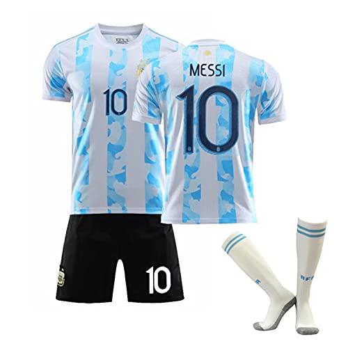 DNGFA 2021 Méssi Argentinien Home und Away Football Trikots, Erwachsene Kinder Fußballtrikots, schnell...