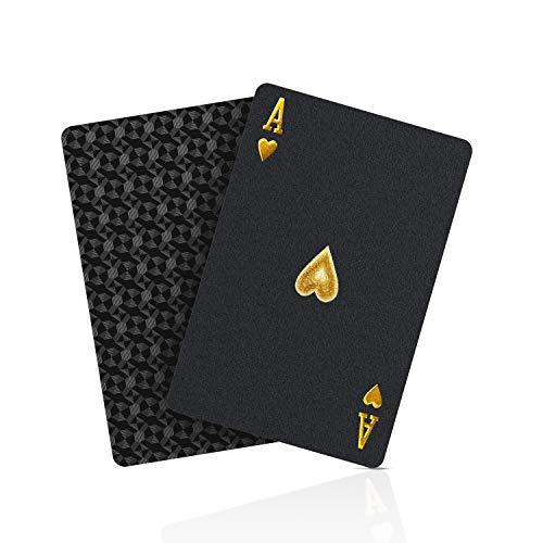 BIERDORF SolarMatrix Schwarzer Diamant Kunststoff Pokerkarten Plastik wasserdichte Spielkarten- 1 Deck von...