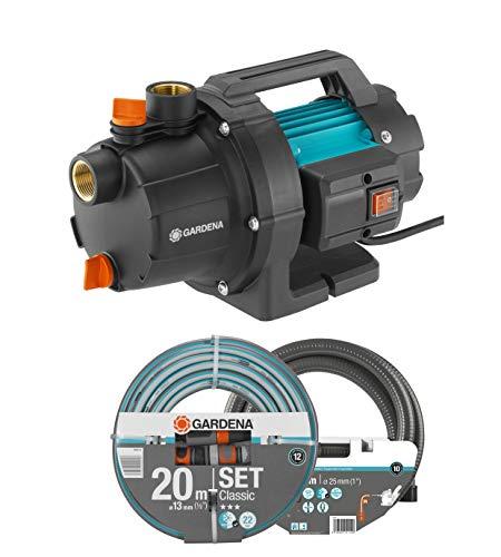 GARDENA Gartenpumpe 3000/4 Basic Set: 600W Leistung, 3,5 bar max. Druck, ideal zur Gartenbewässerung...