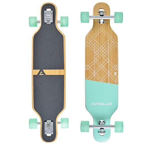 Apollo Longboard Savaii 36' Komplettboard mit High Speed ABEC Kugellagern, Drop Through Freeride Skaten...