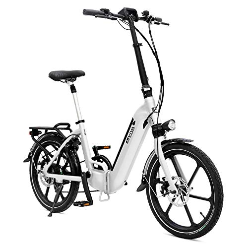AsVIVA E-Bike B13 Stadtfalter 20 Zoll, Faltrad (14,0Ah Akku), Klapprad, 7 Gang Shimano Kettenschaltung, Bafang...
