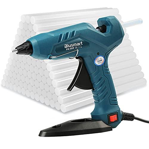 Heißklebepistole Klebepistole + 80 Heißklebesticks für DIY Kleine Handwerk und schnelle Reparaturen in Haus...