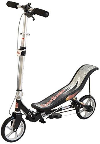 Space Scooter X580, Schwarz, Tretroller mit Schwungrad, per Luftdruckdämpfer Angetriebener Roller mit...