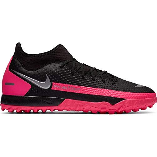 Nike Herren Vapor 12 Club Gs Mg Sneaker, Black Metallic Silver Pink Blast, 43 EU