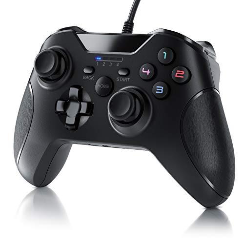 CSL - Gamepad für PC im Xbox Design - Controller kabelgebunden - hochwertige Analogsticks - geringe Deadzone...