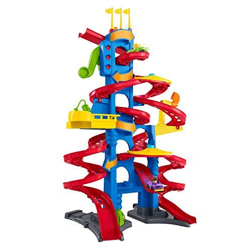 Fisher-Price FXK59 - Little People Hochhaus Rennbahn und Parkhaus fr Kinder mit Geruschen und 2 Spielfiguren,...
