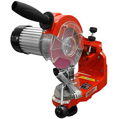 HECHT Sägeketten-Schärfgerät 9230 Kettenschärfer SET- Schleifkopf einstellbar mit Kettenspannvorrichtung...