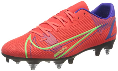 Nike Herren Vapor 14 Academy SG-Pro AC Football Shoe, Bright Crimson/Metallic Silver-Indigo Burst-White-Rage...