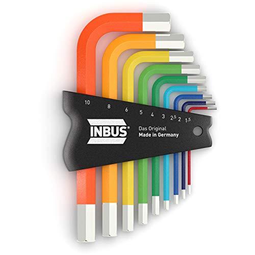 INBUS® 70259 Inbusschlüssel Set ColorGrip 9tlg. 1,5-10mm Kurz I Made in Germany