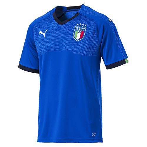 PUMA Herren FIGC Italia Home Shirt Replica SS, Team Power Blue-Peacoat, XL