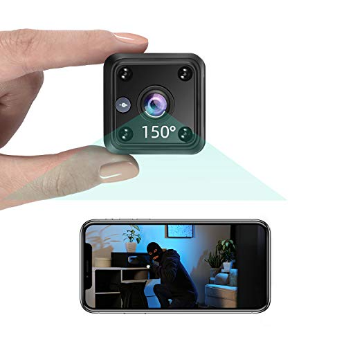 TeamMe Mini Kamera 1080P HD WLAN IP Kamera mit Akk Videoanrufkamera Nanny Sicherheitskamera für Innen Aussen...