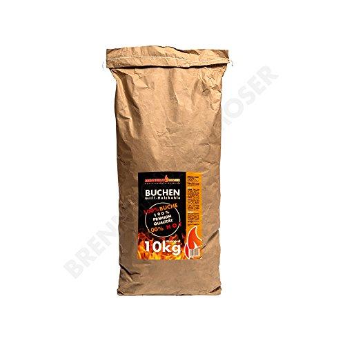 Holzkohle Buche für BBQ, Grillkohle groß, 10kg, Buchenholzkohle, Steakhouse Qualität, Premium Qualität,...