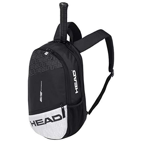 HEAD Unisex Elite Backpack Tennistasche, Schwarz/Weiß, Einheitsgröße
