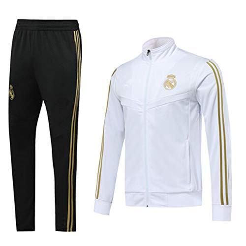 QGGQ Fußball Jersey Reǎl Mǎdrid Trainingsanzug Männer Pullover Langarm Tracksuits Top + Pants Outdoor...