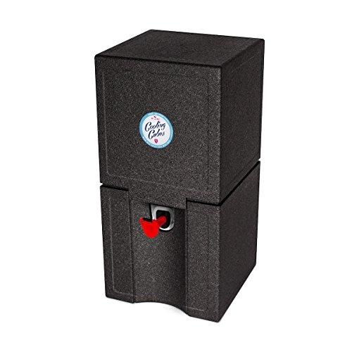 Cooling Cubes Tube - Bierkühler für die 5 Liter Partyfässer Bierfasskühler (Schwarz)