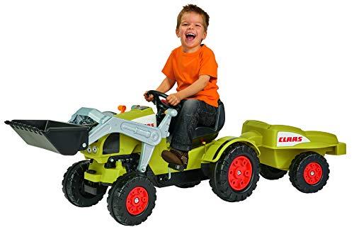 BIG - Claas Celtis Loader mit Anhänger - Kindertrettraktoren, Spielfahrzeug mit Präzisionskettenantrieb,...