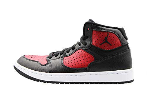 Nike Herren Jordan Access Basketballschuhe, Mehrfarbig (Black/Gym Red-White 006), 47 EU