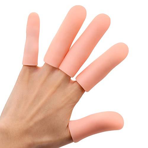Sumiwish Fingerschutz, 10 Stücke Dicker Gel Finger Ärmel, Wasserdichter Silikon Fingerlinge für Finger...