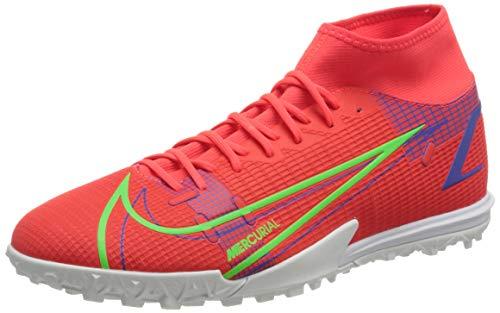 Nike Herren Mercurial Superfly 8 Academy TF Football Shoe, Bright Crimson/Metallic Silver-Indigo...