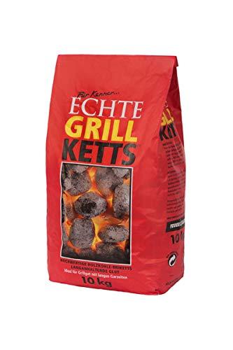 Holzkohlewerk Lüneburg Feuer&Flamme 10 kg Premium Holzkohle Grillketts - ideal für Dutch Oven, Smoker und...