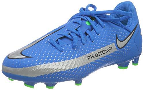 Nike Unisex Jr. Phantom Gt Academy Fg/Mg Fußballschuhe, Photo Blue Metallic Silver Rage Green Black, 38 EU