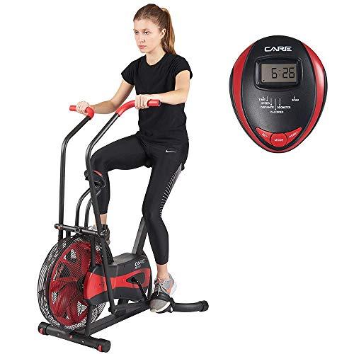 Care Fitness - Air Bike CA-700 - Crosstrainer Fahrrad mit 6 Trainingsprogramme - Elliptisches Indoor Bike mit...