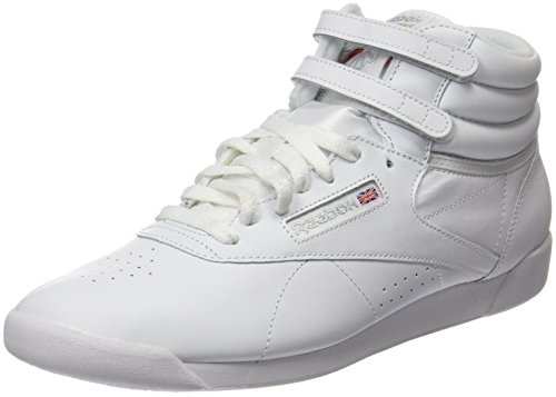 Reebok Damen Freestyle Hi High-Top, Weiß (Int-White/Silver), 38.5