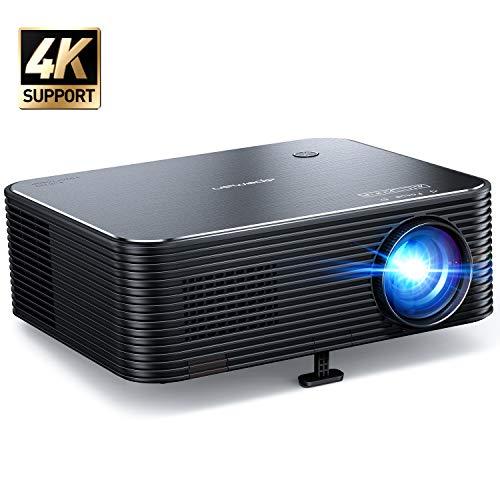 Beamer, APEMAN Native 1080P Projektor, 300'' Display Full HD Unterstützt 4K Video, ±25° Fern Elektronische...