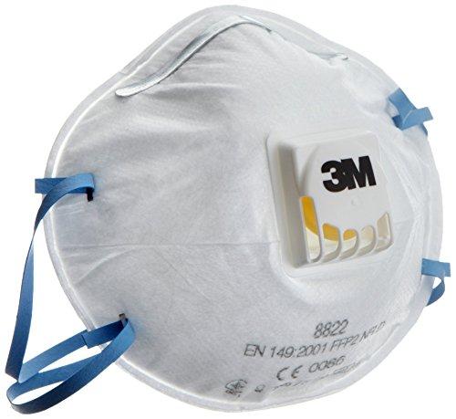 3M Atemschutzmaske Serie 8000  8822  FFP2 NR D mit Cool-Flow Ausatemventil bis zum 10-fachen des Grenzwertes