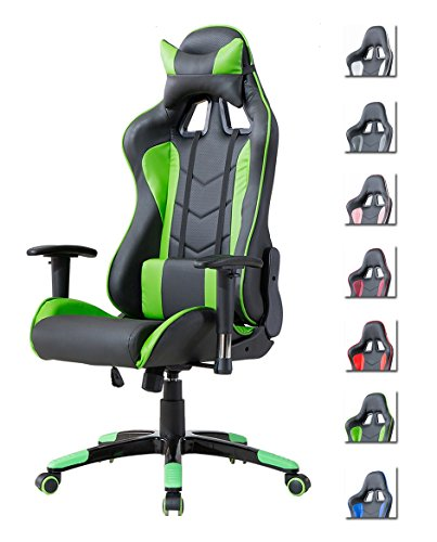 Delman Gaming Stuhl Bürostuhl Racing Stuhl Gamer Ergonomischer Stuhl Einstellbare Armlehne Einteiliger...
