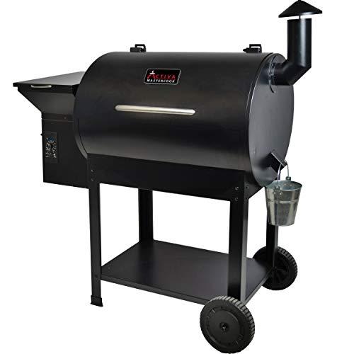 ACTIVA Grill Pelletsmoker XXL Grillwagen Smoker BBQ Barbeque Räuchern Smoken Räucherofen, Pellet-Smoker