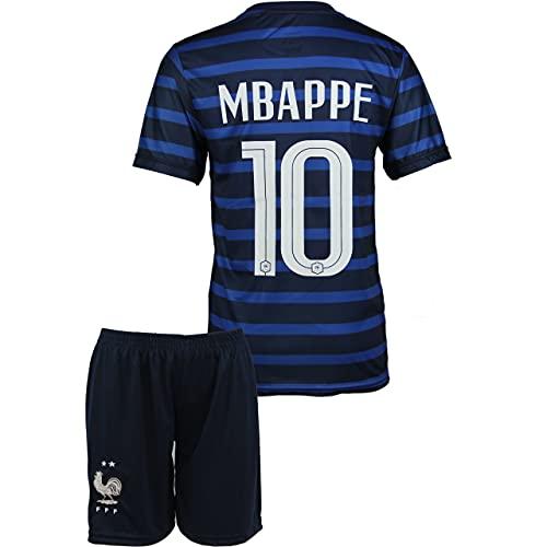 Frankreich Mbappe #10 2021 Heim Trikot und Shorts Kinder und Jugend Größe(164, 10-11 Jahre)