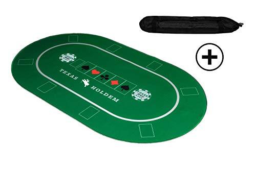 KrockaZone - XXL Profi Pokermatte 100 x 60cm + Tragetasche - Unterlage Pokertisch/ Poker Tischauflage/...
