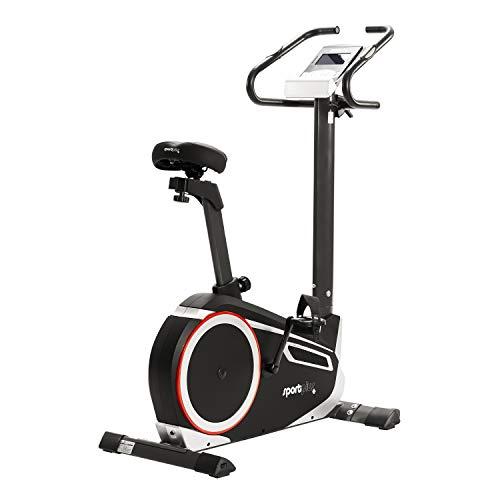 SportPlus Heimtrainer Fahrrad fr zuhause, Kinomap-App, Ergometer ideal fr Heimtraining, 24 Widerstandsstufen,...