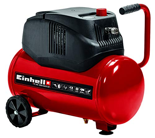 Einhell Kompressor TC-AC 200/24/8 OF (1.200 W., max. 8 bar, Druckminderer, öl-/servicefreier Motor, 24...