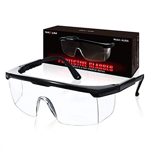NASUM Schutzbrillen Vollsichtbrillen Schutzbrille Arbeitsschutzbrille gegen Spritzer,Verstellbare Bügel und...
