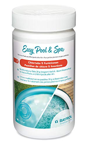 Bayrol Easy Pool & Spa Chlortabs 5 Funktionen/Multitabs 5in1 / Kleine 20g Chlortabletten 1 kg, Weiß