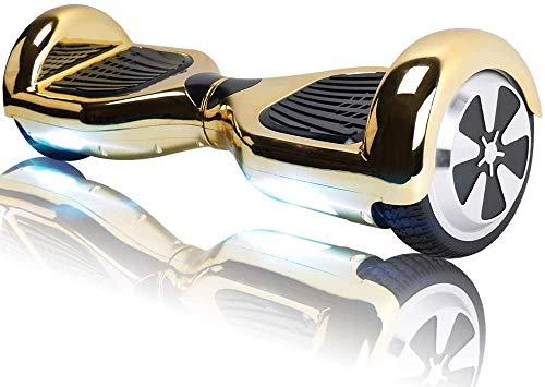 TOEU Hoverboard 6.5' Self Balance Scooter mit Bluetooth - Elektro Scooter Geschenk für Kinder (Gold-BL)