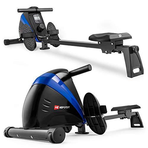 Hop-Sport Rudergert Boost Ruderzugmaschine mit Computer & Magnetbremssystem blau