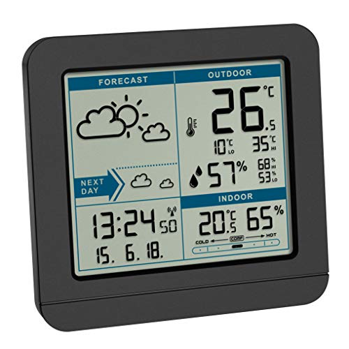 TFA Dostmann SKY Funk-Wetterstation, 35.1152.01,Wetterstation Funk mit Außensensor, Wettervorhersage,...