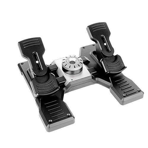 Logitech G Saitek Pro Flight Rudder Pedals, Pedale mit Zehenbremse zur Rudersteuerung für Flug Simulatoren,...